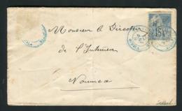 Rare Lettre De Canala Pour Nouméa ( 1898 ) - Neukaledonien