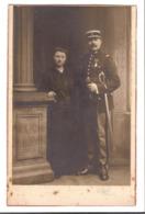 AN 124 - PHOTO - E. EICHE à Rouen - Un GENDARME Et Sa Femme (Gendarme Harnoux ?) - War, Military