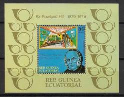 Guinée  équatoriale - 1979 - N°Mi. Bloc 313A - Sir Rowland Hill - Neuf Luxe ** / MNH / Postfrisch - Guinea Ecuatorial