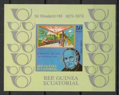 Guinée  équatoriale - 1979 - N°Mi. Bloc 313B - Sir Rowland Hill - Non Dentelé - Neuf Luxe ** / MNH / Postfrisch - Guinea Ecuatorial