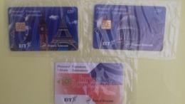 VENDS TELECARTE EUROSTAR 3+4+5 ( MONUMENTS+TEXTE+MONUMENTS2 COTE 660 EUROS Bien Lire Descriptif Avant D'enrichir - France