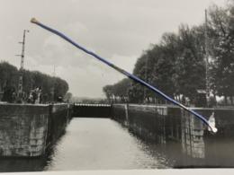 Photo Original 1952, Ministère De Travaux Publics , Canal Bruxelles-Rupel, Écluse De Kapel Op Den Bos - Belgien