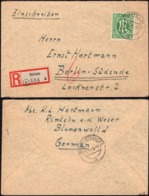 Germany - Allied Occupation, AM - Zone, Mi. 31 EF Reg. Cover. RINTELN 11.1.1946 - BERLIN Steglitz. - American/British Zone