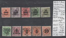 TIMBRES D ALLEMAGNE  OBLITEREES (WURTTEMBERG) 1922/23 Nr  VOIR SUR PAPIER AVEC TIMBRES  COTE 167.80   € - Wurttemberg