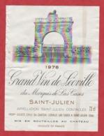 Etiquette - Vin - France - St. Julien - 1976 - Marquis De Las Cases. - Etiquetas