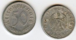 Allemagne Germany 50 Reichspfennig 1935 A KM 87 J 368 - [ 4] 1933-1945 : Troisième Reich