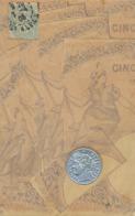 Superbe Gaufrée Argentée Alu Pièce Monnaie Et Billet Banque 5 Franc Vers Echassières Allier Gaumichon - Monnaies (représentations)