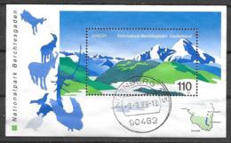1999 C.E.P.T.- Berchtesgaden National Park, Used Sheet - [7] Federal Republic