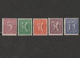 Lot 5 Timbres Chiffre - Allemagne - Deutsches Reich - Dont 2 Neufs Année 1922 Mi 177 - 181 - 182 - 183 - 185 - Gebraucht