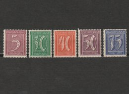Lot 5 Timbres Chiffre - Allemagne - Deutsches Reich - Dont 2 Neufs Année 1922 Mi 177 - 181 - 182 - 183 - 185 - Usados