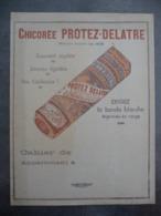 """Ancien Protège-cahier Couverture """"Chicorée PROTEZ-DELATRE"""" - Protège-cahiers"""