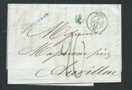 LAC DE Paris, Facture ,   Cad 5/03/1842, Pour Aurillac , Arrivée 7/03/1842  - Malc9101 - 1801-1848: Précurseurs XIX