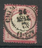 """Deutsches Reich 4 """"1 Groschen -Briefmarke. Kleines Brustschild  """" Gestempelt  Mi.:10,00 - Deutschland"""