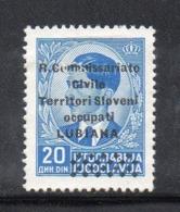 "APR2733  - LUBIANA 1941 , Sassone N. 32 *  Linguella  (2380A) ""R. Commissariato........"" - Lubiana"