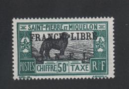 Faux Saint-Pierre Et Miquelon Taxe N° 54 Gomme Charnière - Timbres-taxe