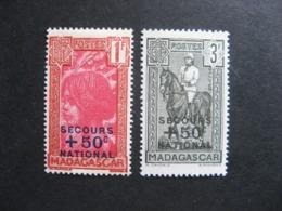MADAGASCAR:  TB  Paire N° 232 Et N° 233, Neufs X. - Madagascar (1889-1960)