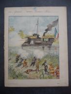"""Ancien Protège-cahier Couverture """"Conquête Du TONKIN - Le MOUSQUETON"""" (CAHIER COMPLET) - Protège-cahiers"""