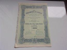 LES PARFUMERIES DE GABILLA (1929) - Actions & Titres