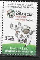 UAE, 2019, MNH, AFC ASIAN CUP, FOOTBALL , SOCCER, BIRD , MASCOT,1v - Coppa Delle Nazioni Asiatiche (AFC)