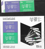 UAE, 2019, MNH, BOOKS, READING, SHARJAH WORLD BOOK CAPITAL, 2v+SHEETLET - Celebrations