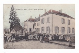Saint-Lothain.39.Jura.Ecole Et Mairie. - Francia