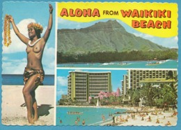 HAWAI - ALOHA From WAIKIKI BEACH - Multiviews - Nude Woman Femme Nue - Honolulu