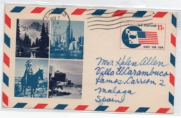EEUU 1965 Postal Circirculada. C/valor Facial Impreso - Interi Postali