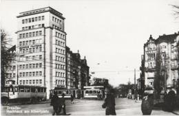 Repro Foto Dresden Neustadt Albertplatz Hochhaus Bank Staatsbank Straßenbahn Bus Königsbrücker Straße Antonstraße - Riproduzioni