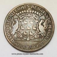 Auvergne. René De Marillac 1686. Cuivre 28 Mm 6.50gr.  F. 9625. - Monarchia / Nobiltà