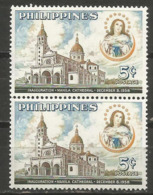 Philippines - 1958 Manila Cathedral Pair MNH **      Sc 646 - Philippines