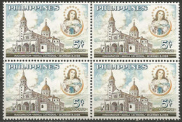 Philippines - 1958 Manila Cathedral Block Of 4 MNH **      Sc 646 - Philippines