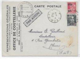 ALGERIE - 1946 - CARTE COMMERCIALE Par AVION De ORAN => THIERS - Algérie (1924-1962)