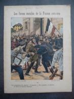 """Ancien Protège-cahier Couverture """"Les FORCES MORALES De La FRANCE 1914-1919"""" (CAHIER COMPLET) - Protège-cahiers"""