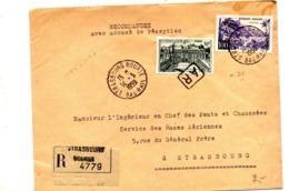 Lettre Recommandée Strasbourg Sur Elysee Guadeloupe - Marcophilie (Lettres)
