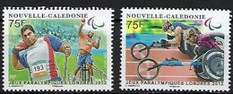 """Nle-Caledonie YT 1159 & 1160 """" JO Paralympiques Londres """" 2012 Neuf** - Nuevos"""