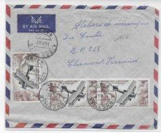 GABON - 1962 - ENVELOPPE Par AVION POSTE AERIENNE De LIBREVILLE => CLERMONT-FERRAND - Gabon (1960-...)