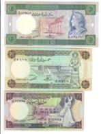 SIRIA SYRIA 10 Pounds 1991 + 50 1988 + 100 1990 Q.fds About UNC Lotto 2805 - Siria
