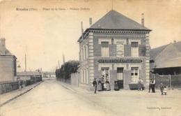 CPA 60 BRESLES PLACE DE LA GARE MAISON DUBOIS Dos Simple - France