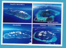 Vues Aériennes Des îles De La Société Tahiti, Moorea, Raiatea Tahaa Et Huahine - Polynésie Française