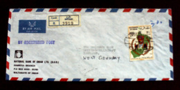 Sultanat Oman,RUWI MUSCAT, NATIONAL BANK OF OMAN LTD,MATRAM,R-Brief.,Cover To Germany.(529*) - Oman
