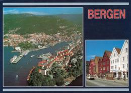 1 AK Norwegen * Bergen - Eine Luftbildansicht Und Eine Ansicht Von Bryggen - Seit 1979 UNESCO Weltkulturerbe * - Norwegen