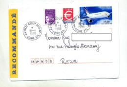 Lettre Recommandée Reze Annexe Ap Sur Airbus Euro - Marcophilie (Lettres)