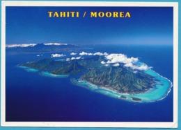 Vue Aérienne De Moorea Et Tahiti - Polinesia Francese