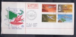 Papua New Guinea 1972 15th Anniversary Of Aviation Registered FDC(EXCELSIOR) - Papouasie-Nouvelle-Guinée