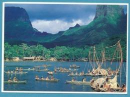 Reconstitution D'un Village Tahitien Du XVII Siècle Dans La Baie D'Opunohu à Moorea - Polinesia Francese