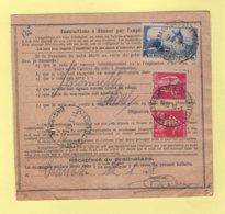 Bulletin D Expedition - Alsace Lorraine - Strasbourg Koenigshoffen - 1938 - 2f Moulin De Daudet + 1f75 Paix + 5c Semeuse - Marcophilie (Lettres)