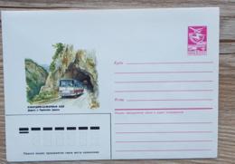 RUSSIE Autocars, Autocar, Bus, Entier Postal Ayant Circulé Neuf Emis En 1987 - Bus