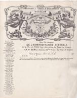 / TRES BEAU DOCUMENT / RECONNAISSANCE DES COMPAGNONS DU DEVOIR BOULANGERS ANNEE 1870 - Historical Documents