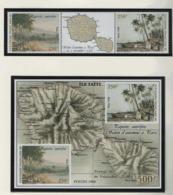 WP29 Polynésie °°  1998 572/573 + Bf 23 Papeete Autrefois Carte C:27.20 - Blocks & Sheetlets
