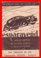 ESPAÑA  PUBLICIDAD DE ESPARAVEND APOSITO - Publicidad